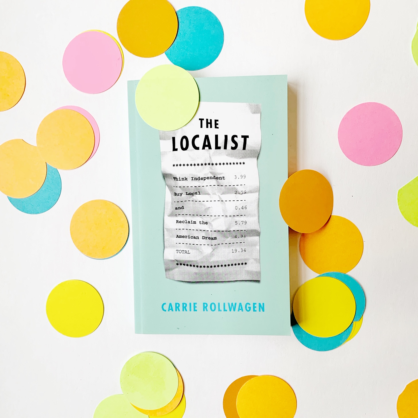 localist book and confetti