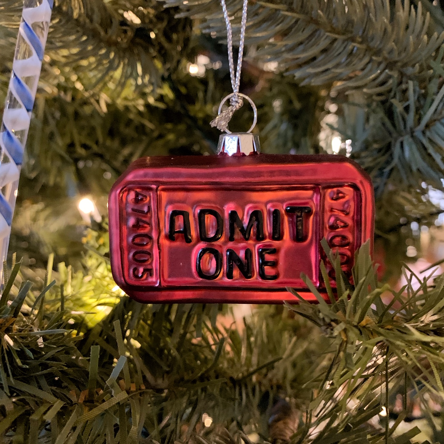 admit one ornament