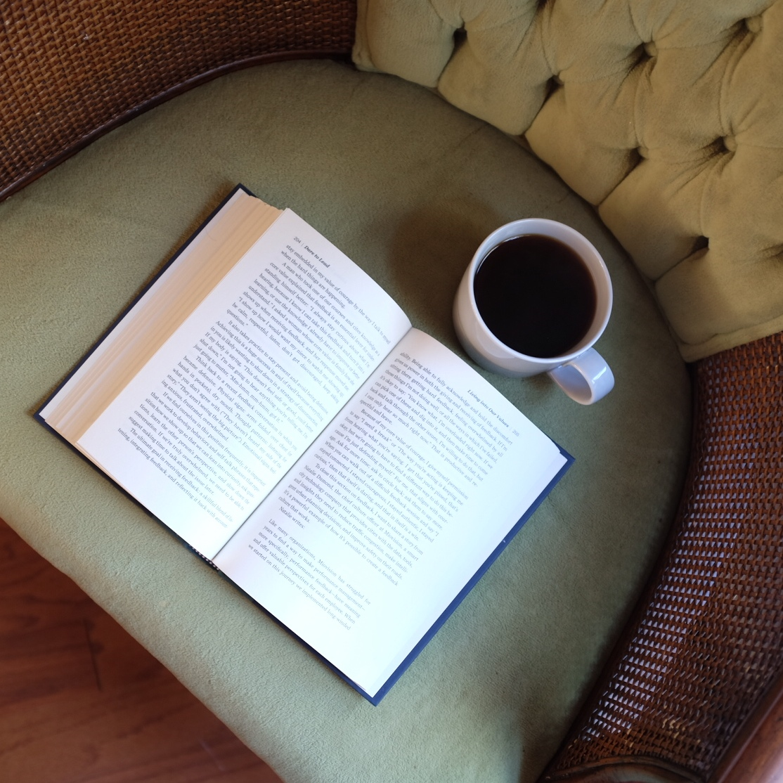 book with coffee